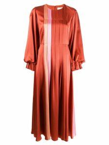 Roksanda panelled pleated dress - Red