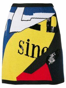 Iceberg high-waisted knit skirt - Yellow