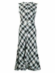 Alexander McQueen Sleeveless tweed dress - Blue