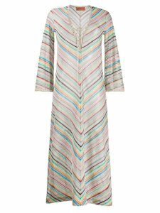 Missoni Mare striped pattern dress - Blue