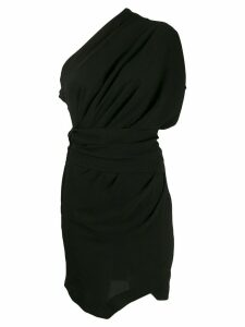 Iro one-shoulder wrap dress - Black