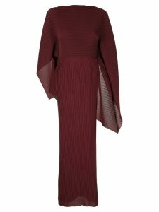 Solace London pleated maxi dress - Red
