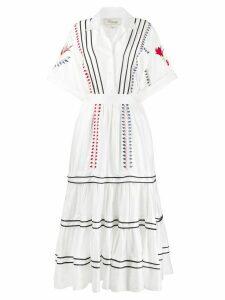 Temperley London Cherry Blossom tiered dress - White