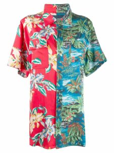 Lost Daze oversized double print shirt - Red