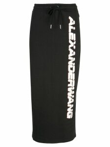 Alexander Wang logo drawstring skirt - Black