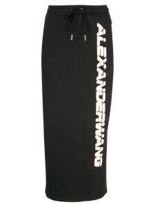 Alexander Wang logo drawstring skirt - Black