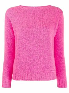 Prada knitted boat neck sweater - Pink