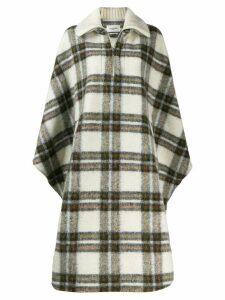 Isabel Marant Étoile check cape coat - Neutrals