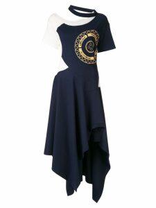 Monse asymmetric T-shirt dress - Blue