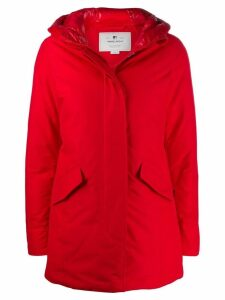 Woolrich hooded short coat - Msc Marine Scarlet