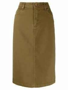 Aspesi high-waisted denim skirt - Brown