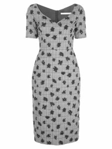 Jason Wu Collection floral plaid print dress - Black