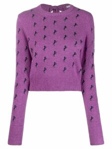 Chloé horse pattern jumper - Purple