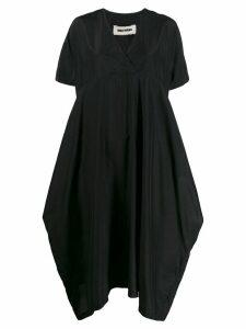 Uma Wang V-neck shirt dress - Black