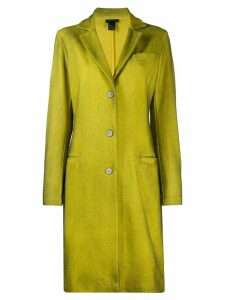 Avant Toi single-breasted coat - Yellow