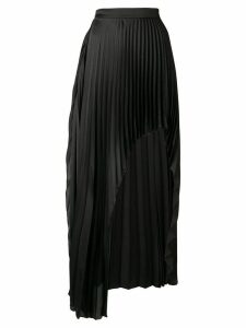 Stella McCartney asymmetric pleated skirt - Black