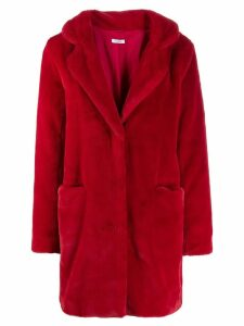 P.A.R.O.S.H. faux fur coat - Red