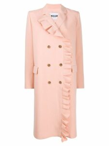 MSGM coat with ruffled detail - Pink