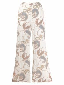 See By Chloé printed wide leg trousers - White