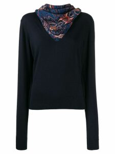See By Chloé scarf neck jumper - Blue