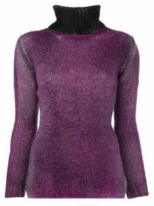 Avant Toi ribbed turtle neck sweater - Purple