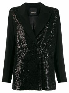 Pinko sequin double-breasted blazer - Black