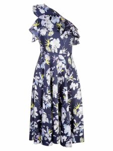 Jason Wu Collection floral print one sleeve dress - Blue