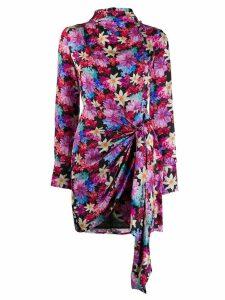 Pinko floral print draped mini dress