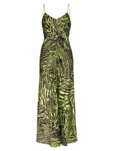 Ganni tiger print maxi dress - Black
