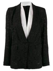 Pinko lace single-breasted blazer - Black