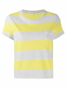 T By Alexander Wang striped T-shirt - Grey