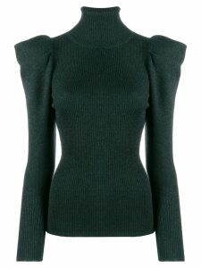 P.A.R.O.S.H. structured shoulder knitted top - Green
