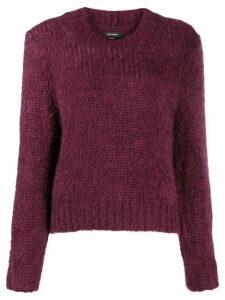 Isabel Marant ribbed trim jumper - Red