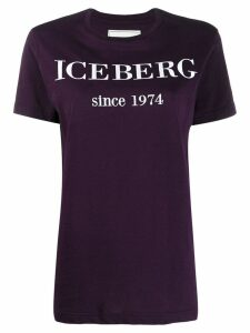Iceberg embroidered logo T-shirt - Purple