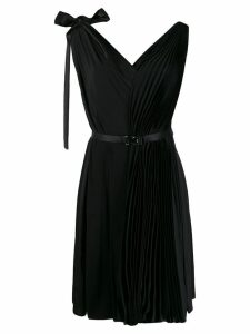 Prada belted pleated dress - Black