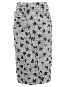 Jason Wu Collection floral print asymmetric skirt - Black
