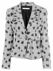 Jason Wu Collection floral print stretch blazer - Black