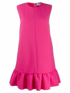 MSGM shift dress with ruffle trim - Pink