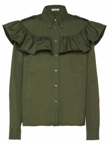 Miu Miu ruffled boxy shirt - Green