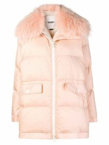 Yves Salomon Army marmot fur padded coat - Pink