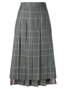 Thom Browne Windowpane Shadow Check Skirt - Grey