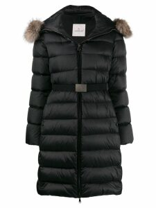 Moncler belted padded coat - Black