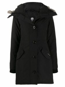 Canada Goose padded hooded coat - Black