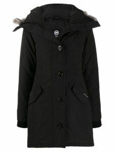 Canada Goose padded hooded coat - Black