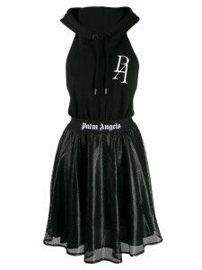 Palm Angels open back hoodie dress - Black
