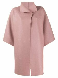 Harris Wharf London cropped sleeves oversized coat - Pink