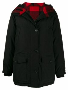 Woolrich reversible check coat - Black