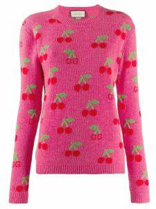 Gucci cherry motif sweater - Pink