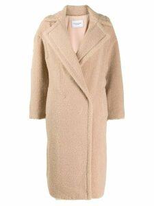 Forte Dei Marmi Couture oversized contrast coat - Brown