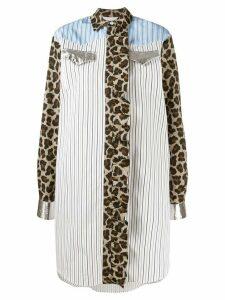 MSGM oversized striped shirt - 01Bianco
